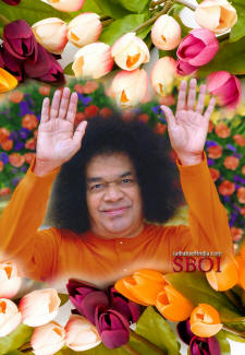 sathya sai baba blessings - cellphone wallpaper