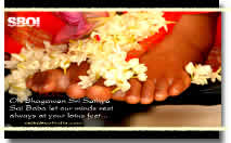 Lotus Feet of Bhagawan Sri Sathya Sai Baba - Large Size