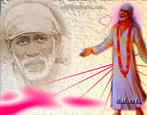 "SHIRDI SAI BABA HEART - GRACE - WALLPAPER PHOTO ""entrancing"""