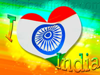"Indian Flag Motive - Independence greeting cards - ""15th August"""