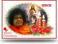 Sai Baba & Jesus Christmas Greeting cards & Christmas wallpapers